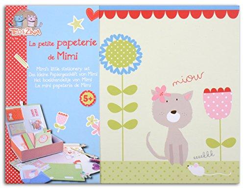 Toga KTZ04 Kit de Petite Papeterie de Mimi Papier Bleu/Rose/Vert 21 x 16 x 5,5 cm