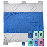 WildHorn Outfitters Sand Escape Beach Blanket. Compact Outdoor Beach Mat Made from Strong Parachute...