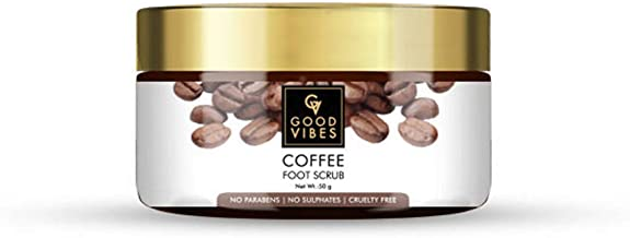 Good Vibes Coffee Foot Scrub - 50 g - Moisturization, Nourishing and Softening for Dry and Flaky Skin - Cruelty Free