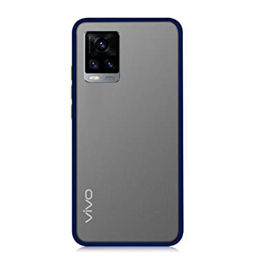 Pingin Smoke Case for Vivo V20 Pro Back Cover Matte Surface Back Panel with TPU Edges Perfect to Protect Vivo V20 Pro with Case On (Vivo V20 Pro Smoke Case, Blue)