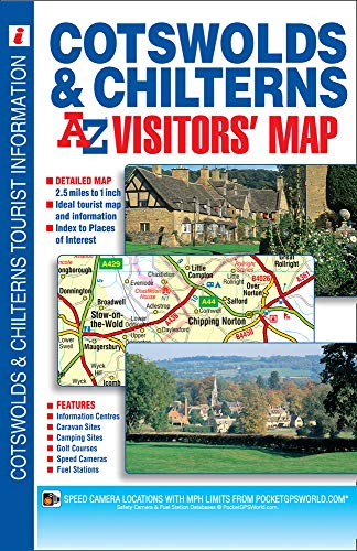 Cotswolds & Chilterns A-Z Visitors' Map