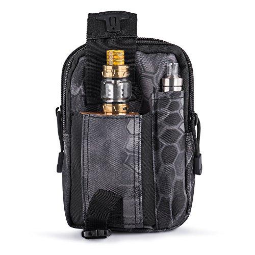 Ecigdiy Tactical Molle Tasche Kompakte EDC Mehrzweck-Dienstprogramm Gadget Gürtel Gürteltasche mit Handyholster für iPhone 6 / 6S, Camping Wandern Outdoor-Ausrüstung (Schwarze Pythonhaut)