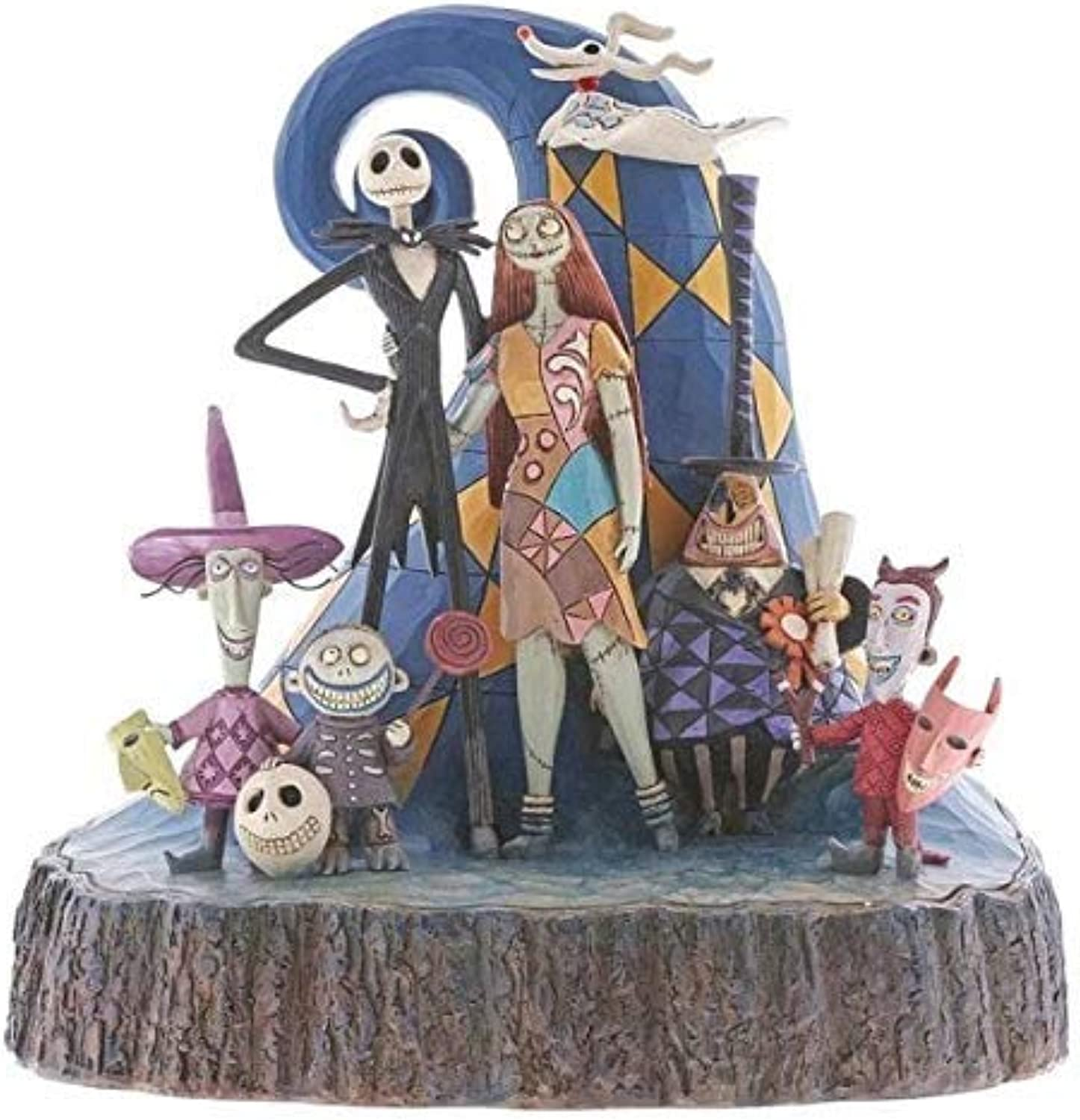 Enesco 6001287 Disney Traditions by Jim Shore Nightmare Before Christmas Carved by Heart Figurine 8  Multicolor