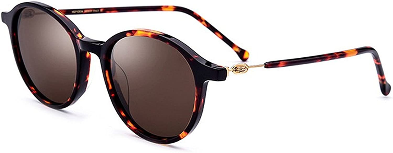 Women's Sunglasses Personality Small Round Acetate Fibre Flower Frame Polarized Lens UV Predection Driving Fishing Beach Outdoor Sunglasses, Fashion Sunglasses