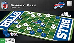 MasterPieces NFL Buffalo Bills Checkers Board Game Set, For 2 Players, Ages 6+
