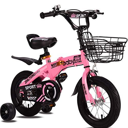Phil Beauty Bicicleta Infantil para Niños Y Niñas A Partir De 7 Años Rueda Antideslizante Asa Y Asiento Ajustables Mango Antideslizante Jardín De Camping,Rosado,18