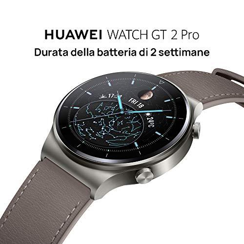 HUAWEI WATCH GT 2 Pro Smartwatch, Touchscreen 1.39 pollici AMOLED HD, 2 settimane di utilizzo con una ricarica, GPS e GLONASS, SpO2, 100+ Modalità di allenamento, Chiamate Bluetooth, Black