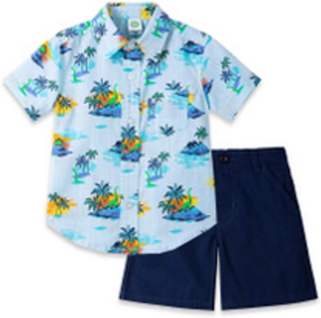 Little Me Boys Tropical Short Set