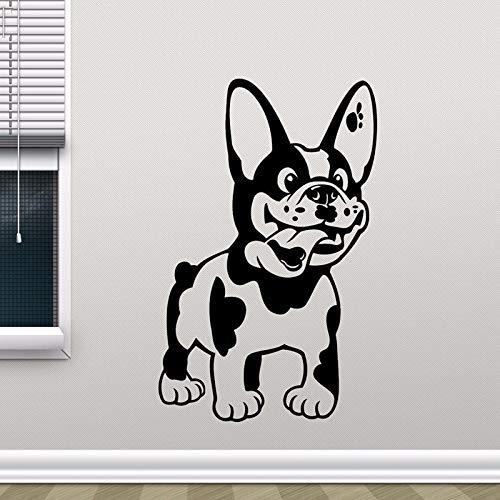 yaonuli Bulldog Aufkleber Vinyl Aufkleber Tier Welpe Haustier Wandaufkleber Wohnzimmer Zoohandlung Dekoration Wandbild 54x41cm
