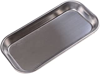 TXIN Stainless Steel Flat Tray, Medical Dental Dish Lab Tray Instrument Organizer, 8.86 x 4.72 x 0.79 inch
