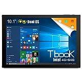 Teclast Tbook 10 Tablet PC Intel Cherry Trail X5-Z8300 Quad Core 10.1 pulgadas 1920 x 1200 IPS Screen 4 GB RAM 64 GB ROM Dual OS Android 5.1 Windows 10 WiFi HDMI 2 en 1 Tablet