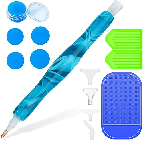 Diamond Painting Accessories,Ergonomic Diamond Painting Tools Pen Comfortable to Grip,5d Diamond Painting Kits for Adults&Kids