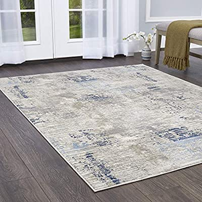 "Home Dynamix Melrose Lorenzo Area Rug, 5'2""x7'2"" Rectangle, Gray/Blue"