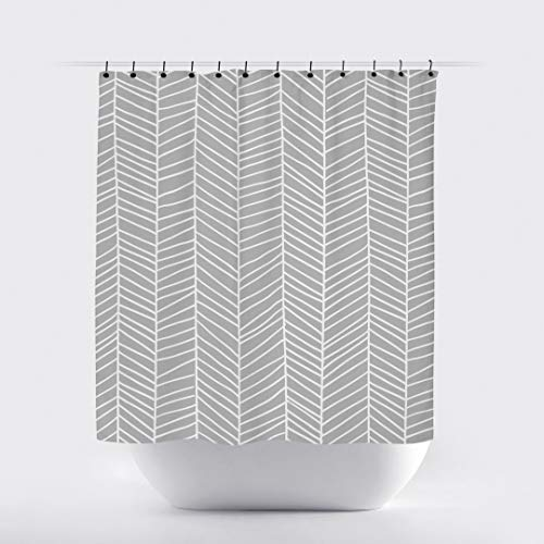 Thomas655 grau-weiß Pfeil Duschvorhang modern niedlich skandinavisch Duschvorhänge minimalistisch Badezimmer Dekor grau Moderne Duschvorhänge grau