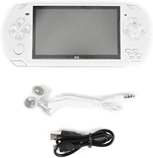 White  Handheld Game Console 4.3 Inch Screen Mp4 Player Mp5 Game Player Real 8gb Support for PSP Game,Camera,Video,e-Book