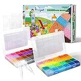 LIHAO 24000 Mini Cuentas y Abalorios Plásticos Cuentas para Planchar de 48 Colores para DIY Manualidad (2,6MM)
