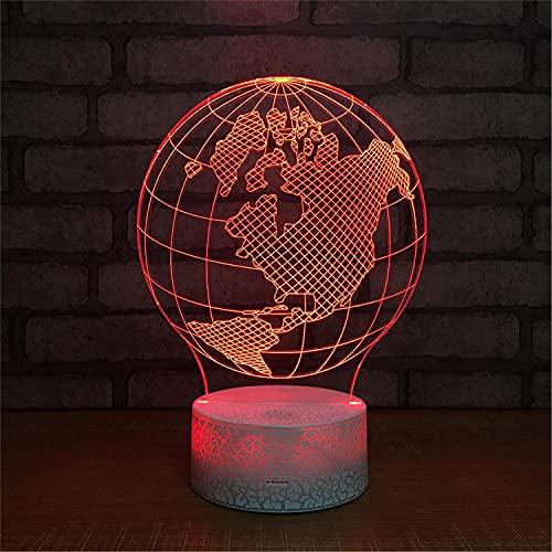 SLJZD luz de noche Lámpara De Noche Acrílica 3D Con Diseño De Globo, Colorida Para Decoración De Fiestas, Lámpara De Noche Led De 7 Colores, Regalo Novedoso Para Niños Con Control Remoto