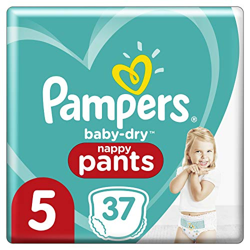 Pañales Pampers talla 5 (12kg-17 kg) – Baby-Dry Pants pañales, 37 braguitas