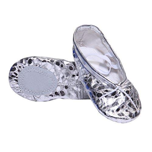 DoGeek Zapatos de Ballet de Cuero Zapatillas de Ballet de Danza Baile para Niños