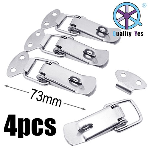 QY 4Set 73MM Strong Cabinet Spring Loaded Toggle Clamps Box Clasp Buckle Trunk Catches Latch Hasp for DIY Chest Project