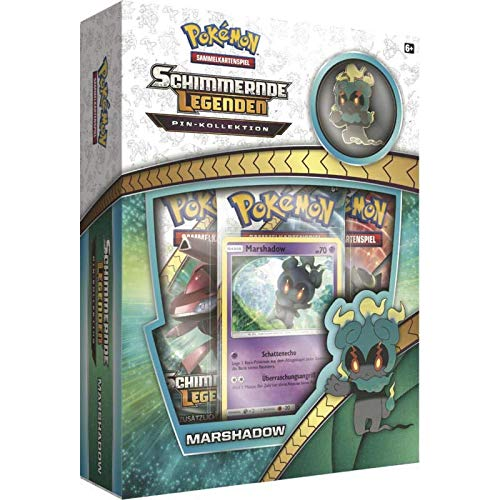 Lively Moments Pokemon Karten Schimmernde Legenden Pin - Kollektion Marshadow DE Deutsch Promo Sammelkarten