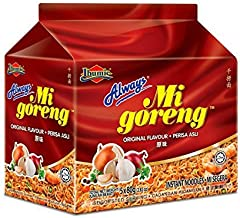 Malaysia Ibumie/Always The Best Selling Instant Noodle/Mi Goreng Asli/Deliciously Tasty, Accomodating Flavors, Suits All Palates (10 packets x 80g)