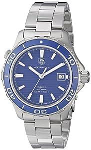 TAG Heuer Men's WAK2111.BA0830 Aquaracer 500 Analog Display Swiss Automatic Silver Watch