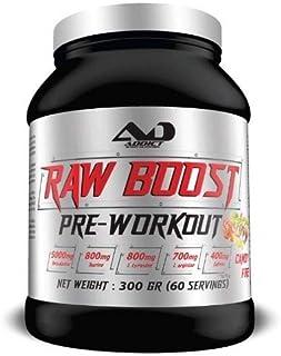 ADDICT SPORT NUTRITION AD - Compléments Alimentaires Raw Boost Pré-Workout sans Gluten et sans Aspartam - Goût Candy Fire...