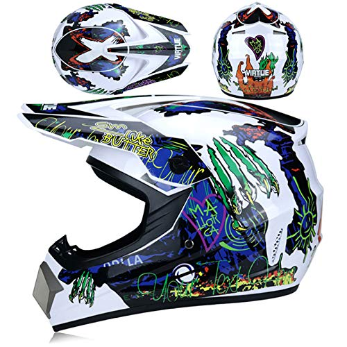 KAAM Casco de motocross, casco de cross, casco de motocross con gafas,...