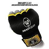 Beast Gear Guantes Boxeo Gel – Manoplas Boxeo Deportes de Combate, MMA, Muay Thai, Artes Marciales - Small