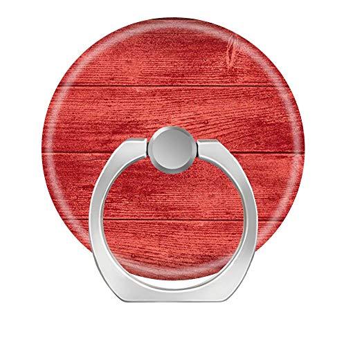 52O Handy-Ringhalter, Finger-Ständer, 360 ° drehbar, klappbarer Griff, kompatibel mit Handys, Galaxys und Allen Android-Smartphones, Kirschholzplatten