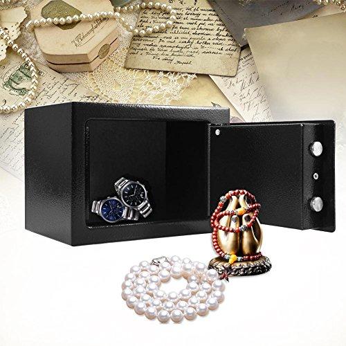 Robuuste stalen kluis, hoge veiligheid, met slot voor sleutels, voor het effectief opbergen van geld, horloges, sieraden, belangrijke documenten of andere waardevolle voorwerpen.
