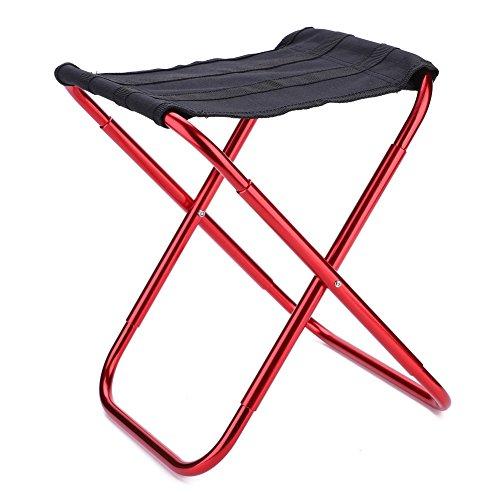 WZ YDTH Pliage selles Camp qualité de l'adulte Chaise Pliante extérieure pêche à la Chaise Pliante Ultra de pêche en Alliage d'aluminium de Camping Portable léger Pique-Nique