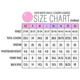 Yogalicious High Waist Ultra Soft Lightweight Leggings – High Rise Yoga Pants – Black Ankle Length – Medium