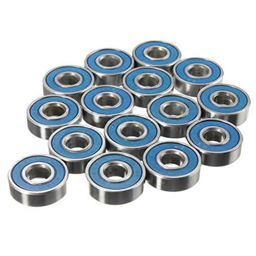 RETYLY 20 x reibungslose ABEC 9 Radlager für Skateboard