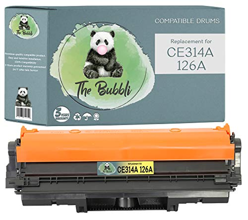 The Bubbli Original | CE314A 126A Tambor de Imagen Compatible para HP Laserjet Pro M175nw M175a CP1025 CP1025nw TopShot MFP M275 M275a M275nw (Negro/Cian/Magenta/Amarillo)