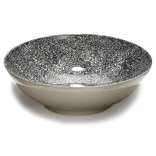 Lambert - Kaori - schaal, fruitschaal, slakom, kom - aardewerk - Ø: 30 cm - met fraaie krakele glazuur