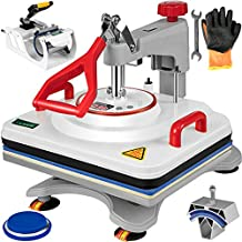 VEVOR Heat Press 12x15 Inch Heat Press Machine 5 in 1 Upgraded Multifunctional Professional Digital Heat Press Machine for t Shirts Hat Mug Cap Plate(12x15 Inch,White)