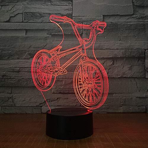 BFMBCHDJ Fahrrad 3d lampe 7 farben led nacht lampe touch led usb tisch lampara lampe schlafen nachtlicht freunde spiel geschenk