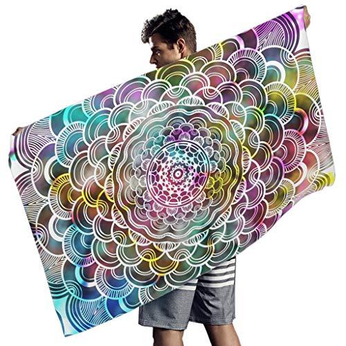 Gran Tamaño Mágico Colorido Toalla De Playa De La Moda Toalla De Piscina - Para Yoga Blanco 150x75 cm