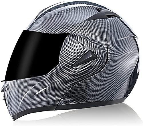 Yin Home Casco de motocicleta de ajuste completo, aprobado por Dot/ECE, casco de carreras de ruedas de carretera, para hombres y mujeres (color: J, tamaño: XS)