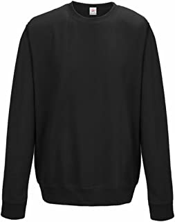 Star and Stripes Plain Jet Black Sweatshirts, Crew Neck Sweatshirt Plus 1 T Shirt with Set-in Sleeve Sweatshirts