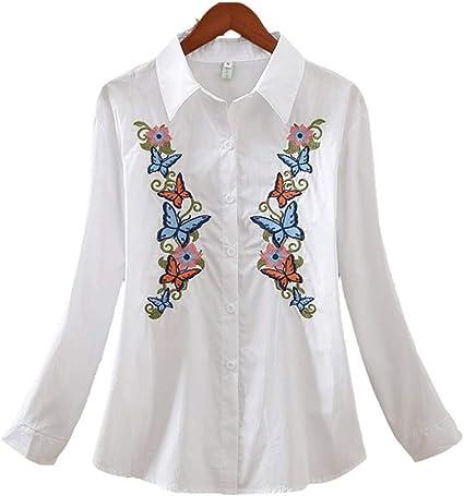 RBDSE Camisa Camisas de Manga Larga para Mujer Moda de Gran ...