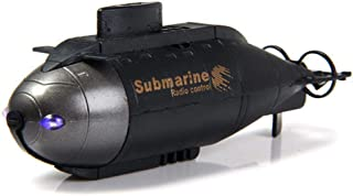 Lesgos Mini Remote Control Submarine Boat Nuclear Submarine RC Race Boat Ship Waterproof High Speed Driving Boat Toys for Kids, Black