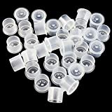 Tattoo Ink Caps Medium - Yuelong 1000Pcs Hot Sale White Plastic Disposable Tattoo Ink Cups With Base,Makeup Tattoo Pigment Ink Cap Sizes 14mm Medium for Tattoo Ink,Tattoo Kits,Tattoo Supplies