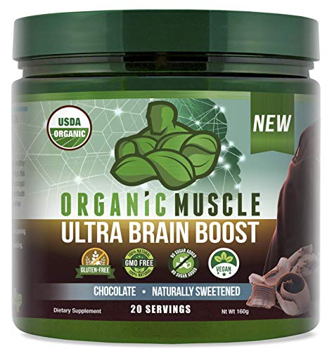 Ultra Brain Boost | USDA Organic Nootropic Brain Support Supplement | Improve Focus, Concentration, Memory & Boost Cognitive Function | Supports Mind Enhancement & Brain Health | 100% Natural & Vegan