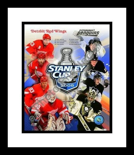 2008 Stanley Cup Finals Pittsburgh Penguins Detroit Red Wings NHL 8x10 Photograph Composite