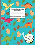 Dinosaur Egg Primary Composition Notebook: Handwriting Practice Paper ~ Draw and Write Story Paper 110 pages ~ Dinosaur Egg Footprint ~ K-2 School Exercise Book