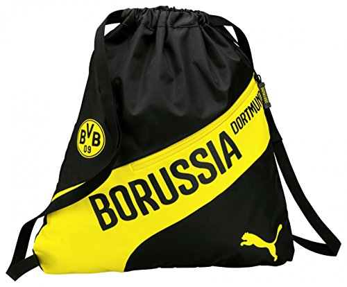 PUMA Turnbeutel BVB EVO Speed Gym Sack, Black/Cyber Yellow, 38 x 46 x 2 cm, 2 Liter
