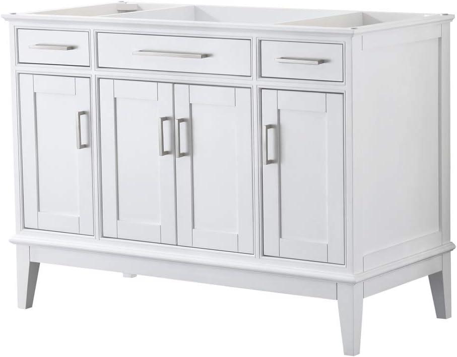 Margate 48 Inch Single Bathroom Vanity In White No Countertop No Sink And No Mirror Amazon Com